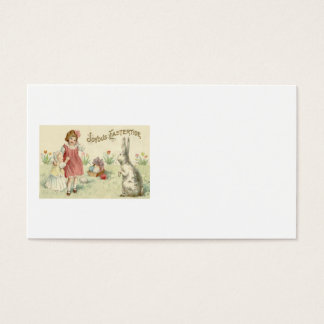 Children Easter Bunny Basket Colored Eggs Business Card