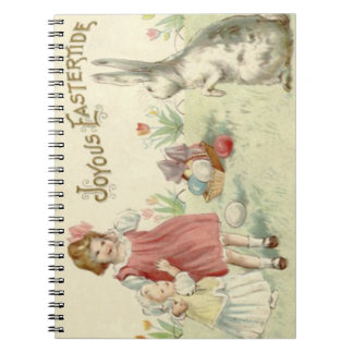 Children Easter Bunny Basket Colored Eggs Note Books