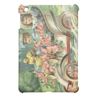 Children Easter Chick Vintage Car Floral Cover For The iPad Mini