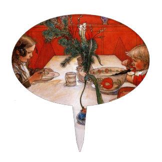 Children Eating Supper (1905) Cake Topper