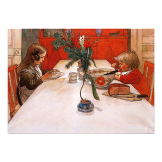 Children Eating Supper (1905) Personalized Invite