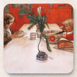 Children Eating Supper Coaster