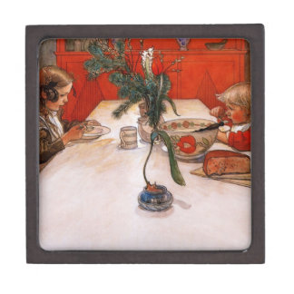 Children Eating Supper Jewelry Box