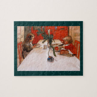Children Eating Supper Jigsaw Puzzle