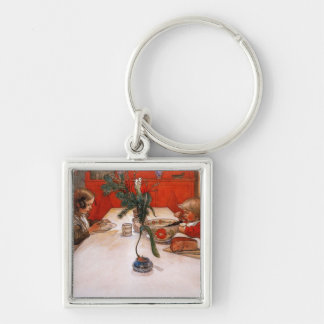 Children Eating Supper Keychain