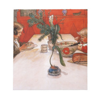 Children Eating Supper Notepad
