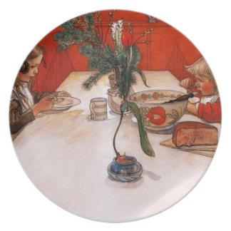 Children Eating Supper Plate