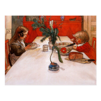 Children Eating Supper Postcard