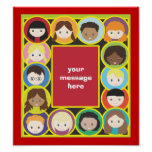 Children Faces Be Yourself Poster