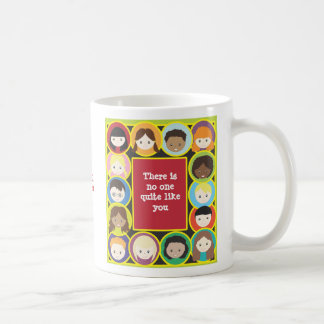 Children Faces Diversity Teacher Personalize Coffee Mug