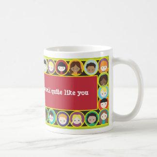 Children Faces Diversity Teacher Personalize Mug