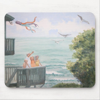 Children Feeding the Seagulls Mouse Pad