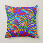 Children Fishing Colorful Kids Room Pillows
