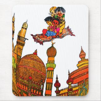 Children Flying On Magic Carpet Over Minarets (w) Mouse Pad
