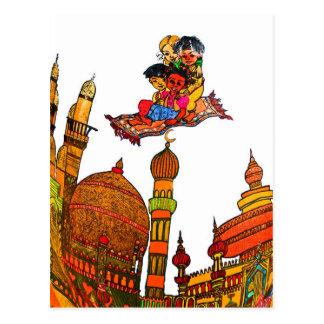 Children Flying On Magic Carpet Over Minarets (w) Postcard