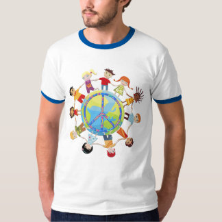 Children gather around the world for peace tee shirt