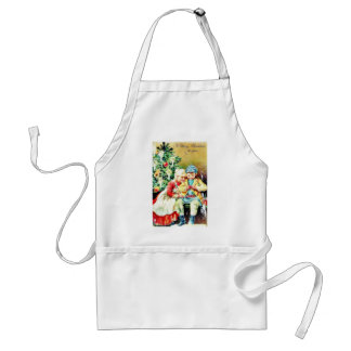 Children getting ready for Christmas night by prep Adult Apron