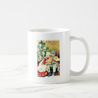 Children getting ready for Christmas night by prep Classic White Coffee Mug