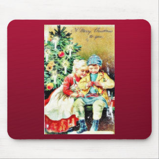 Children getting ready for Christmas night by prep Mouse Pad