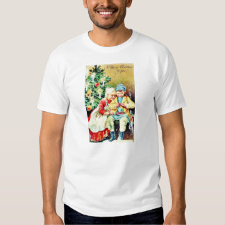 Children getting ready for Christmas night by prep T-shirt