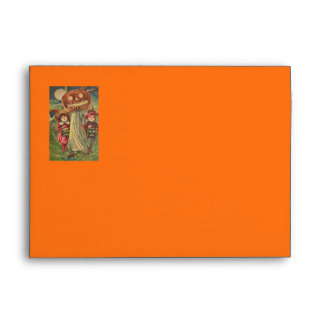 Children Ghost Jack O' Lantern Pumpkin Envelope