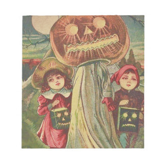 Children Ghost Jack O' Lantern Pumpkin Notepad