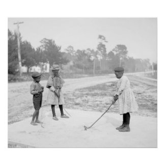 Children Golfing, 1905 Poster