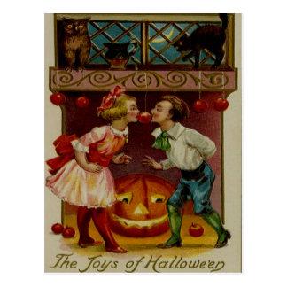 Children Halloween Night Postcard