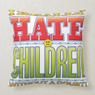 Children Hate Face Throw Pillow