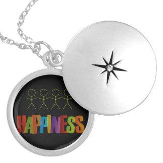Children holding hands- happiness locket necklace