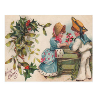 Children & Holly Postcard