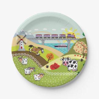 children illustration paper plate