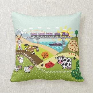 children illustration pillow