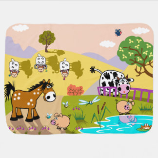 children illustration receiving blanket