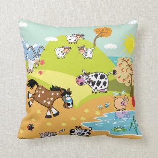 children illustration throw pillow