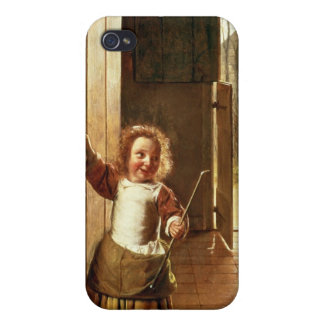 Children in a Doorway with 'Colf' Sticks iPhone 4/4S Covers