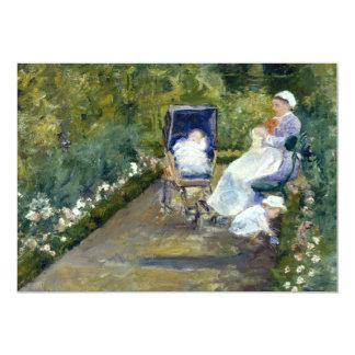 Children in a Garden (The Nurse) by Mary Cassatt Personalized Invitation