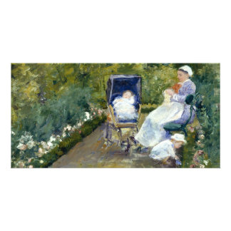 Children in a Garden (The Nurse) by Mary Cassatt Custom Photo Card