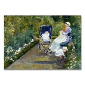 Children in a Garden (The Nurse) by Mary Cassatt Table Cards