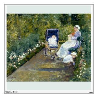 Children in a Garden The Nurse by Mary Cassatt Wall Decal