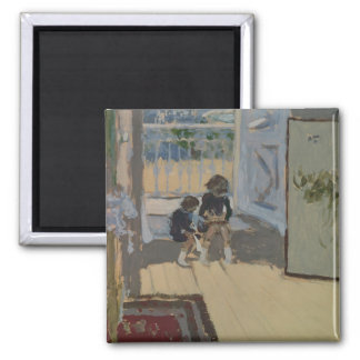 Children in a Room, 1893 2 Inch Square Magnet