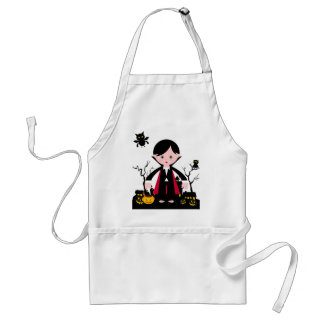 Children in Halloween Dracula costume Adult Apron