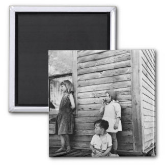 Children in Poverty: 1930s 2 Inch Square Magnet