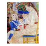 Children in the afternoon in Wargemont  by Renoir Post Cards