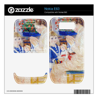 Children in the afternoon in Wargemont  by Renoir Nokia E63 Decal