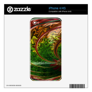 Children in the Rings Fractal Decals For iPhone 4S