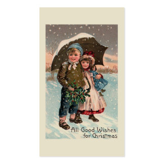 """""""Children in the Snow"""" Double-Sided Standard Business Cards (Pack Of 100)"""