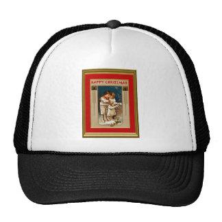 Children in white trucker hat