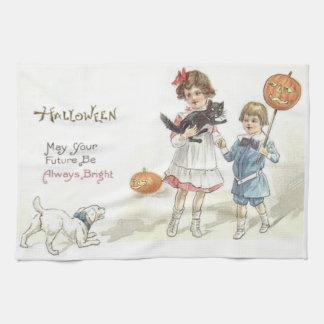 Children Jack O' Lantern Black Cat Dog Towels