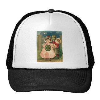 Children Jack O' Lantern Crescent Moon Trucker Hat